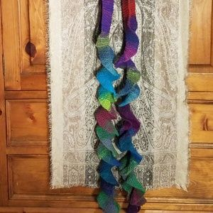 Handmade Long Twisty Rainbow Scarf